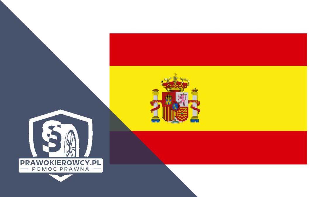 Zakaz prowadzenia pojazdów w Hiszpanii