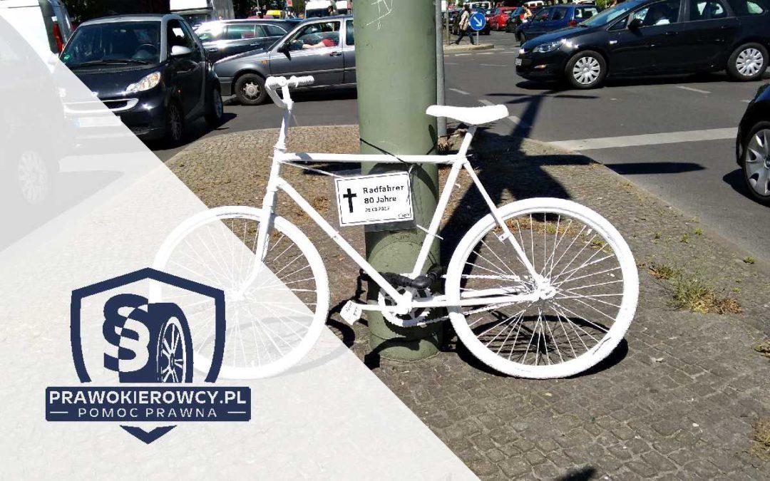 Wypadek drogowy z udziałem rowerzysty