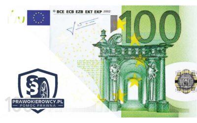 Łapówka dla Policjanta- 100 Euro to nie łapówka.